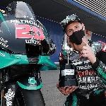 MotoGP: Fabio Quartararo Dedikasikan Kemenangan di MotoGP Spanyol 2020 untuk Korban Pandemi