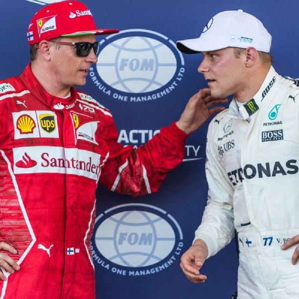 Sama-sama dari Finlandia, Bottas dan Raikkonen Siap Bertarung di Prancis