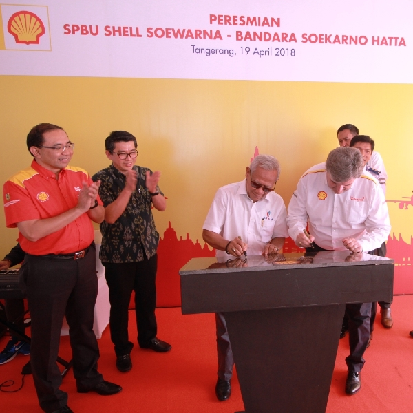 SPBU Shell di Kawasan Soewarna, Bandara Soekarno Hatta Resmi Beroperasi