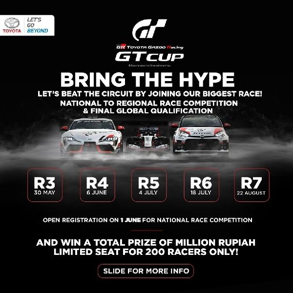 Dukung e-Sports, Toyota Gelar TOYOTA GAZOO Racing GT Cup 2021