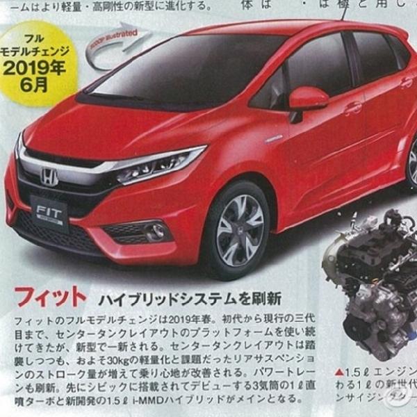 Gambar Generasi Baru Honda Jazz Mulai Beredar