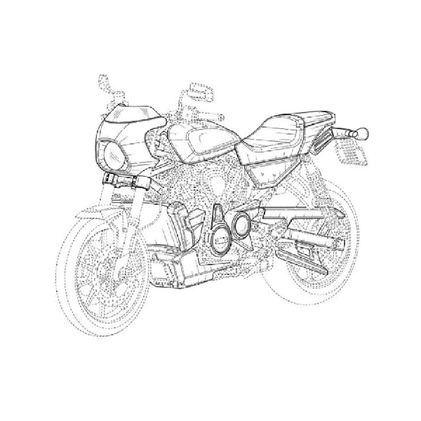 Harley-Davidson Patenkan Desain Motor Cafe Racer, Produksi Tahun Depan?