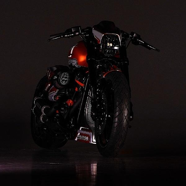Modifikasi HD FXDR Karya Thunderbike German, Dapet Pick Khusus   dari Wakil Presiden HD Company