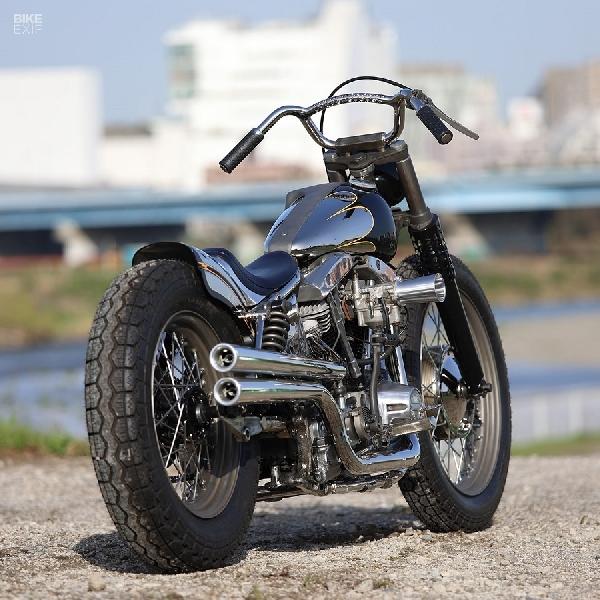 Hidome Style: Shovelhead FLH Harley-Davidson 1970 Kreasi Hideya Togashi