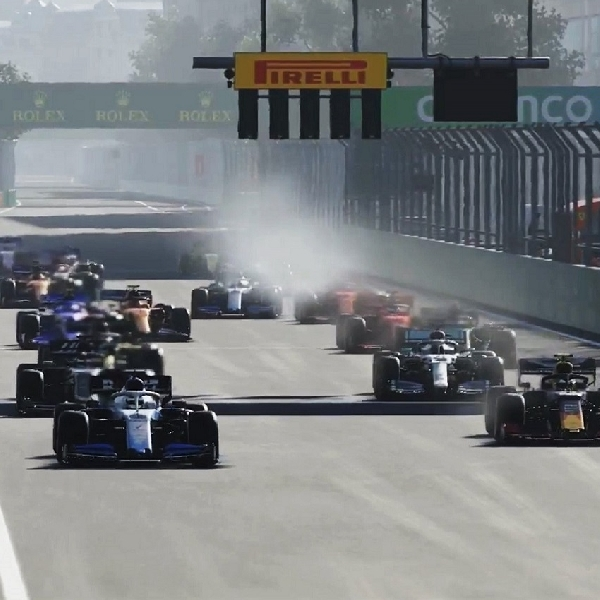 F1: Hasil Grand Prix Virtual F1 Azerbaijan, George Russell Kembali Dominan