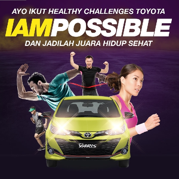 HUT RI ke-74, Toyota  Gelar Acara IAMPOSSIBLE dan Healthy Race