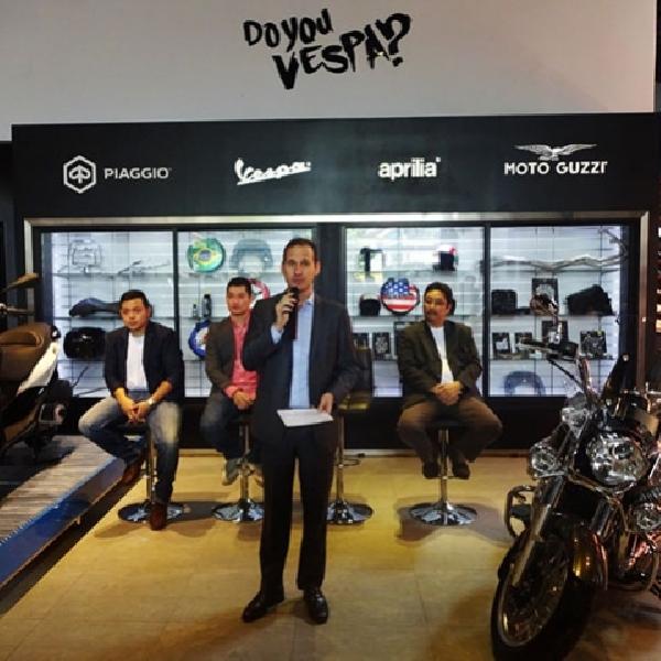 Piaggio Resmi Buka Store dengan Konsep Motoplex di Bintaro