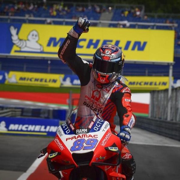 MotoGP Styria 2021 : Jorge Martin Kuda Hitam Pramac Ducati Kalahkan Mir dan Quartararo