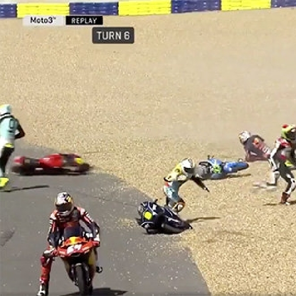 MotoGP: Jelang MotoGP Le Mans - Moto 3 alami Kecelakaan Massal