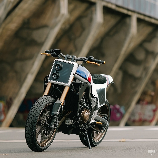 Gagahnya Honda CB650R Street Tracker Karya Kingston Custom