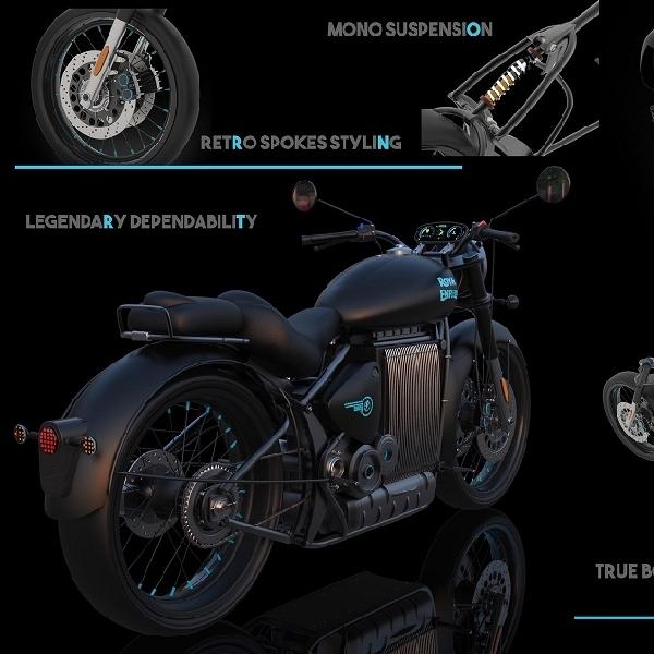 Konsep Motor Listrik Royal Enfield Classic Gunakan Baterai Lithium-ion