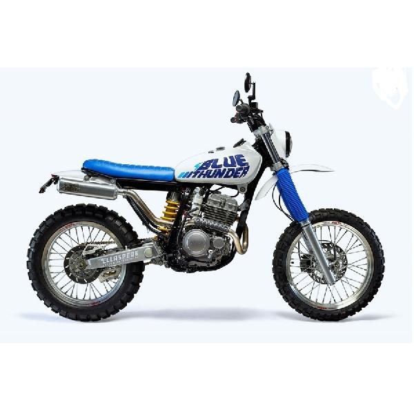 Inilah Wujud Motor Kustom Yamaha TTR250 Bernama Blue Thunder