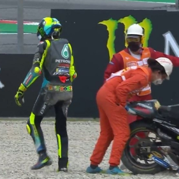 MotoGP: Lagi-Lagi Gagal Finish, Valentino Rossi Ungkap Kekecewaan