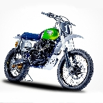Lebih Liar, Kawasaki W800 Dengan Custom Motorcross ala Vintage