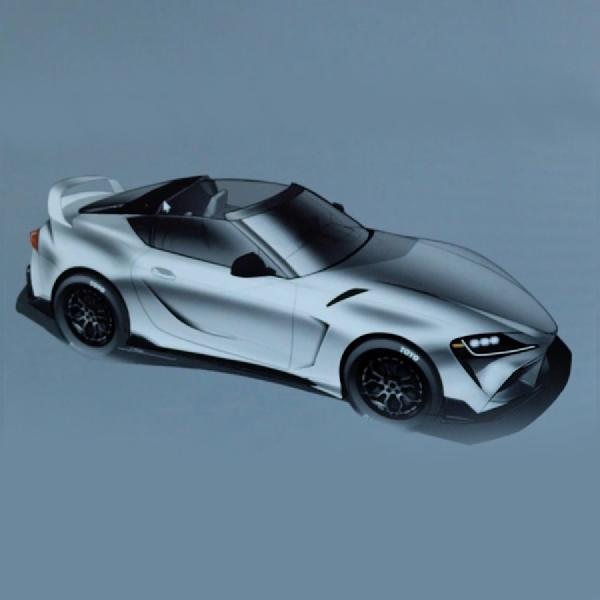 Lihat Render Tanpa Atap dari Toyota GR Supra Top Edition