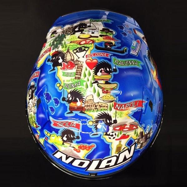 Marco Melandri Kenalkan Helm Baru Nolan X-802RR