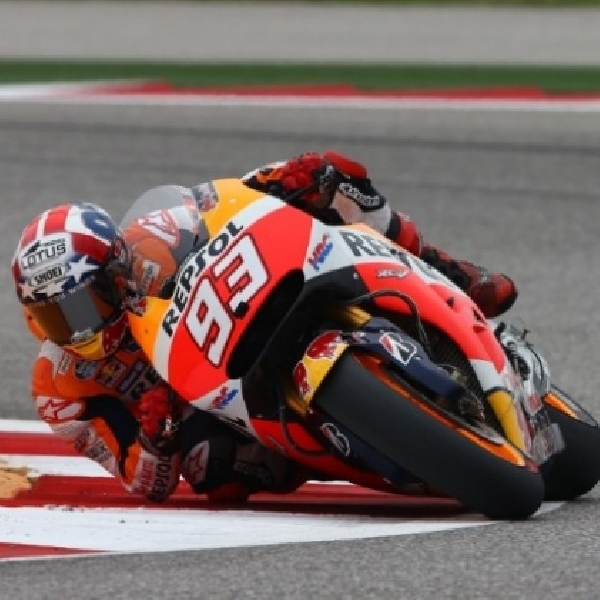 MotoGP: Marquez Raih Kuartet di Austin, Rossi KO