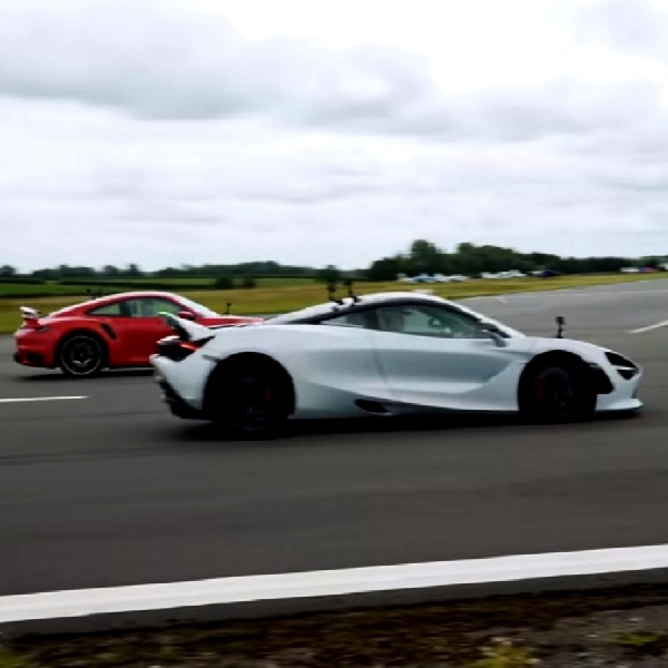 McLaren 720S dan Porsche 911 Turbo S Duel Drag, Siapa Juaranya?