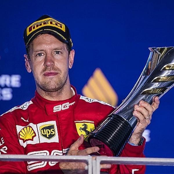 F1: Menang di GP Singapura, Sebastian Vettel Merasa Lega