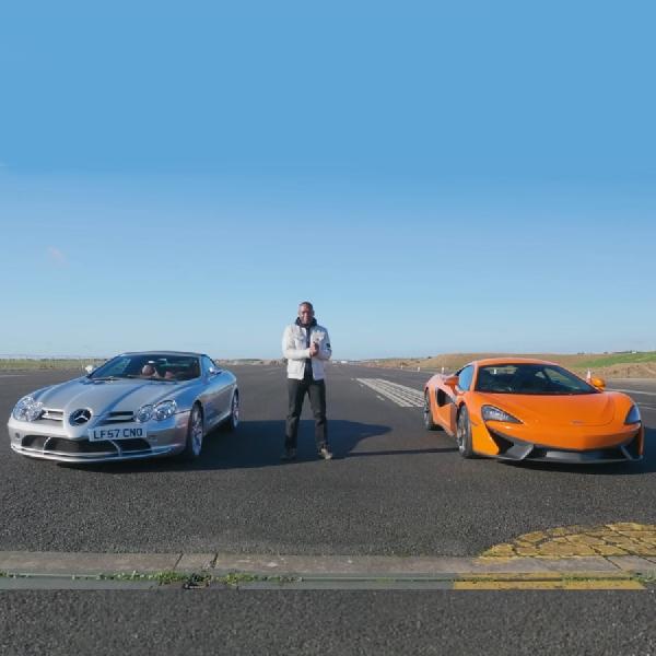 Adu Cepat Mercedes-Benz SLR vs McLaren 540C