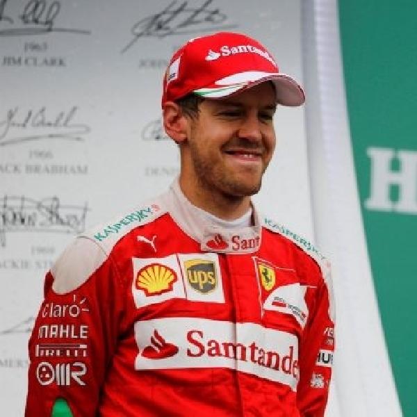 Meski Gagal jadi yang pertama, Vettel Puas dengan Performa Ferrari