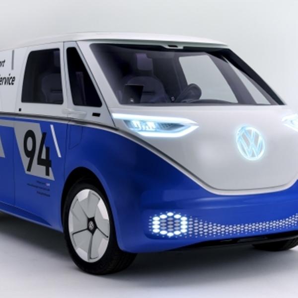 VW ID Buzz Bergaya Mobil Tim Balapan di LA Auto Show 2018
