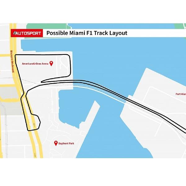Sketsa Sirkuit Formula 1 Miami Sudah Diperlihatkan