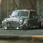 Bergenre Cyber Punk Modifikasi Mini Cooper Mark 1 Rela Menjadi Mini Truck Paling Sangar