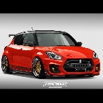 Modifikasi Suzuki Swift Sport 2018 - Red Hot Dazzling