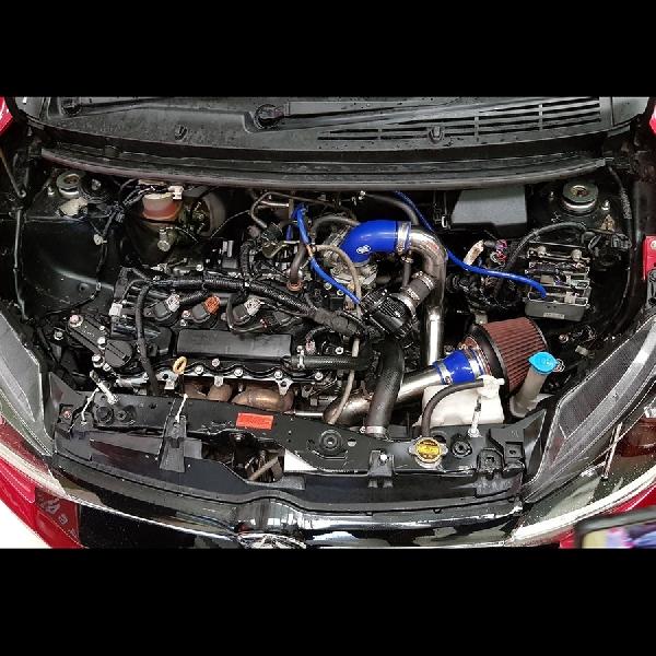 Modifikasi Daihatsu Ayla Turbo Semburkan Tenaga 200 HP