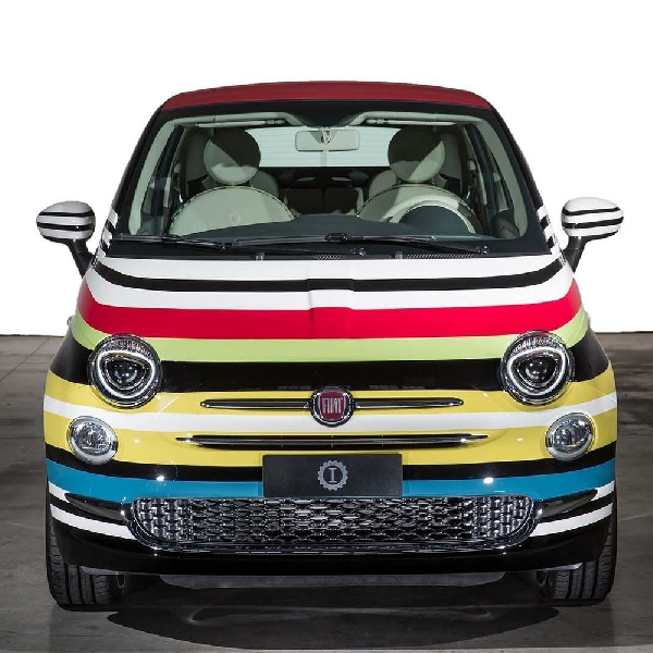 Modifikasi Fiat 500 Warna Warni Dilelang dengan Harga Rp790 Juta