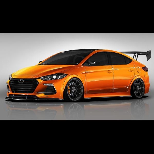 Modifikasi Hyundai Elantra Sport Concept: Racing Styling