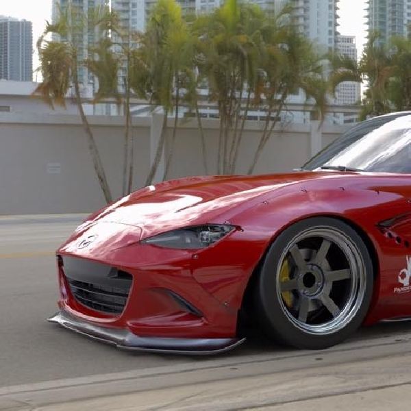 Modifikasi Mazda MX-5 Miata 2016 Ekstrim Rocket Bunny Attack