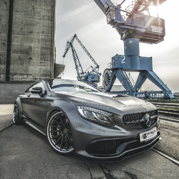 Modifikasi Mercedes Benz C-Class Coupe Lebih Agresif by Prior-Design
