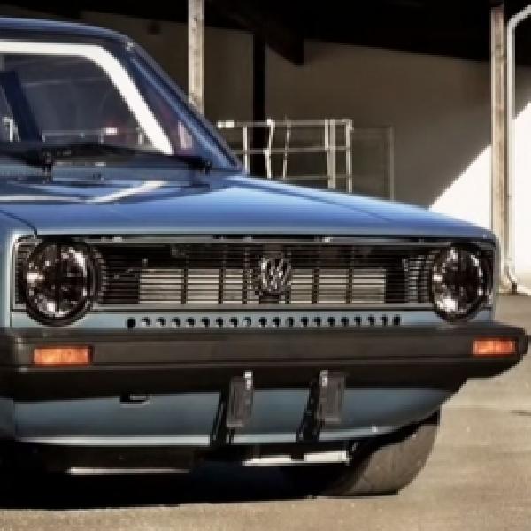 Modifikasi VW Golf Mk I Tenaganya Setara Bugatti