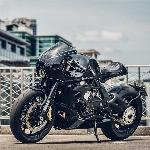 Garis Kental Cafe Racer pada MV Agusta Brutale 675
