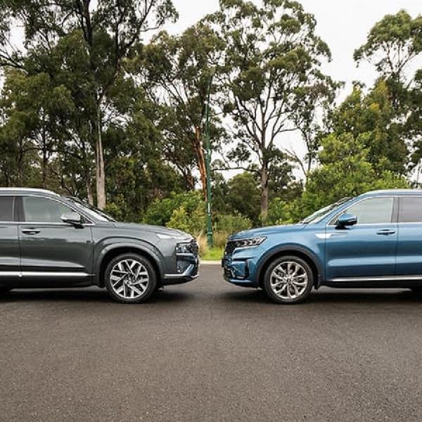Perbandingan Hyundai Santa Fe 2021 dan Kia Sorento 2021