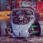 VW Beetle Beast Monster, Berkat Mesin HEMI V8 dengan Gaya Drag