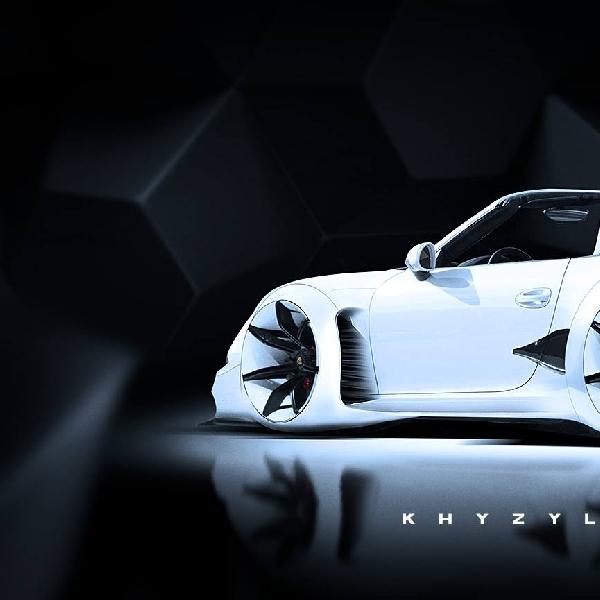 Modifikasi Futuristik Porsche 911 Carrera Cabriolet