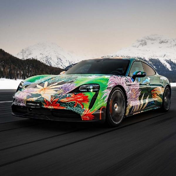 Porsche Taycan 4S Art Car Siap Dilelang Bulan Depan