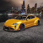 Rendering Porsche Taycan Bawa RWB Widebody Kit dan NFS Underground Vibes