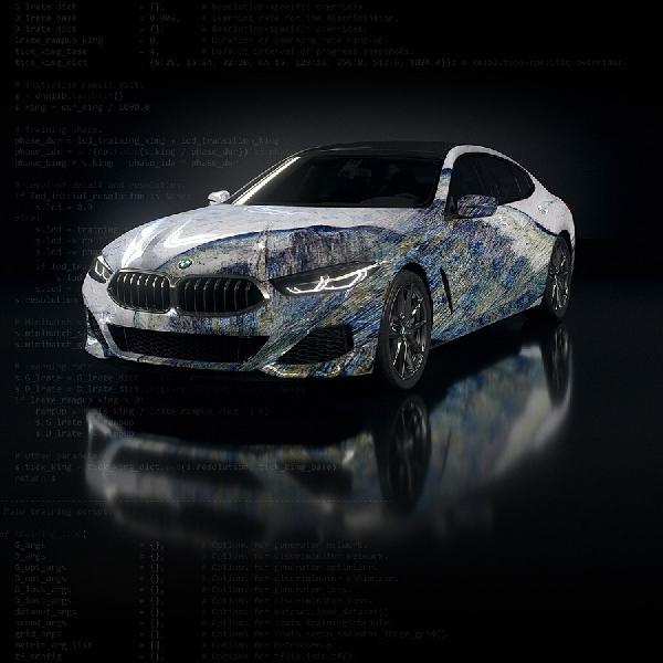 Rayakan 50 Tahun di Dunia Artistik, BMW Membuat Art Car Dengan AI