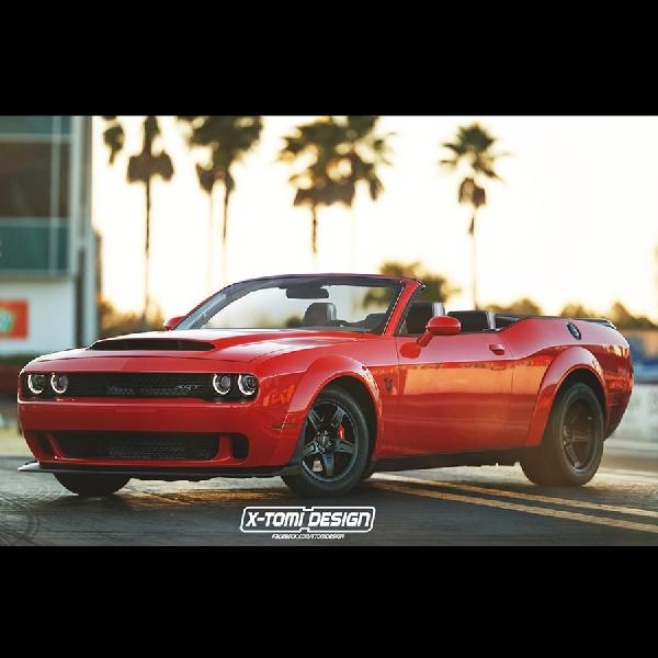 Rendering Dodge Challenger SRT Demon by X-Tomi Design