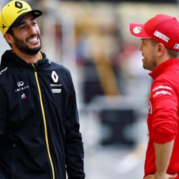 F1: Ricciardo Ingin Vettel Lanjutkan Balapan Formula 1 Tahun Depan