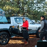 Rivian Bikin Pick Up Camping