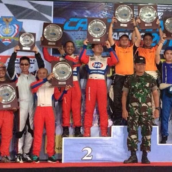 Rizal Sungkar Juara Kejurnas Sprint Rally