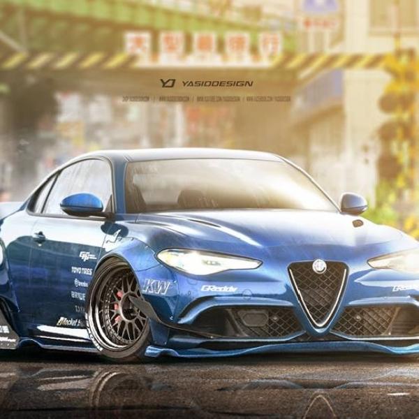 Alfa Rome Giulia Modifikasi Rocket Bunny