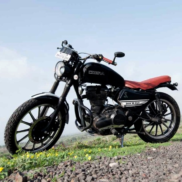 Modifikasi Royal Enfield - Pro Street Scrambler Cobra