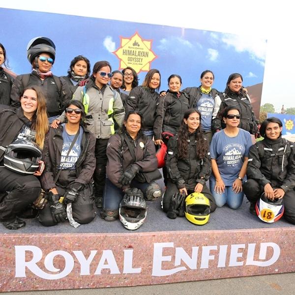 Untuk pertama kalinya riders wanita mengikuti Himalayan Odyssey 2016