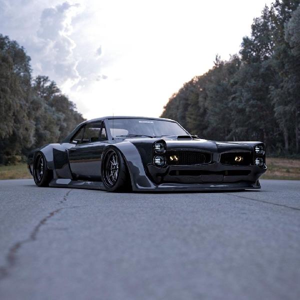 """Simak Tampilan Modifikasi """"Classy Demon"""" dari Pontiac GTO"""